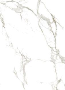 Detail einer Rohplatte aus Keramik in weißer Marmoroptik Dekton Aura 15