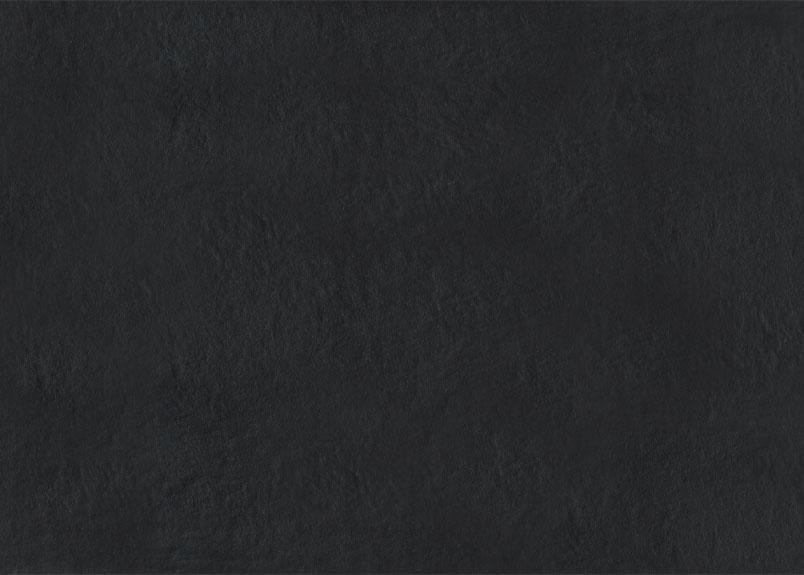 Detailansicht einer dunklen Keramik Rohplatte Dekton Sirius