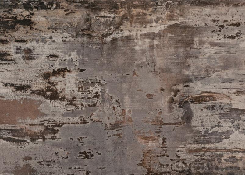 Detailansicht einer unruhigen bräunlichen Rohplatte Dekton Trillium