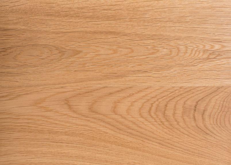 Detailansicht einer Holztischplatte aus Eiche Astrein