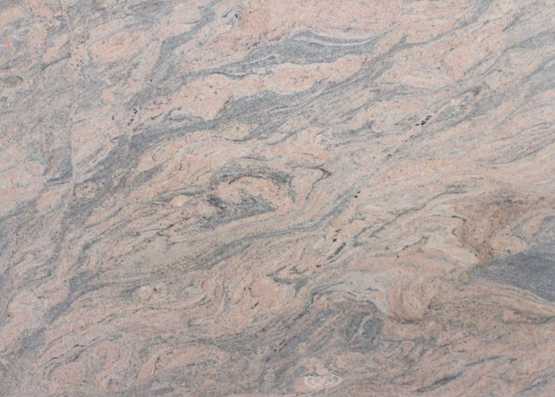 Detailansicht der Naturstein Rohplatte Juparana India