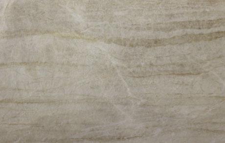 Nahaufnahme der Naturstein Rohplatte Taj Mahal in beige-grauer strukturierter Optik
