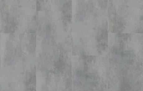 Verlegung der Vinylfliesen Cement Grey in warmgrauer Zementoptik