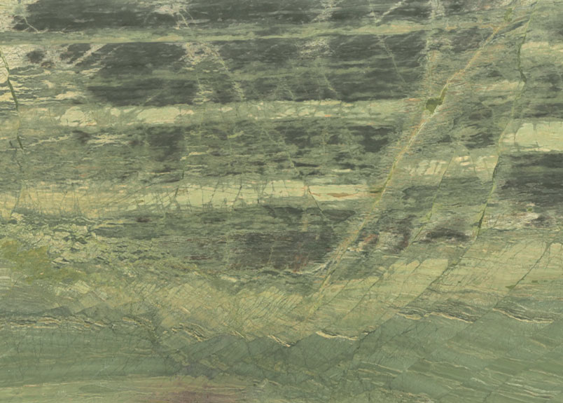 Naturstein Rohplatte Samba Green in verschiedenen Grüntönen