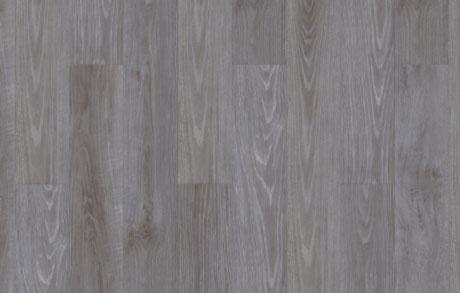 Verlegung des Vinylbodens Oak Grey in grauer Eichenholzoptik