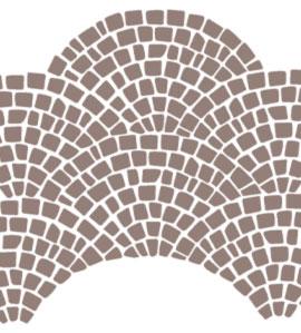 Grafik einer Pflasterstein Schuppenverlegung