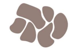 Grafik einer Terrassenplattenverlegung im Polgonalverband