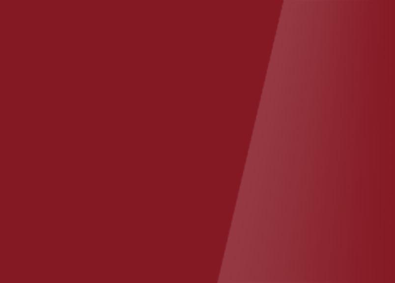 Detailaufnahme einer Glasrückwand aus Weißglas rubinrot