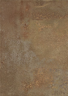 Keramik Terrassenplatte in rostiger Metalloptik pureto Patina Classic braun