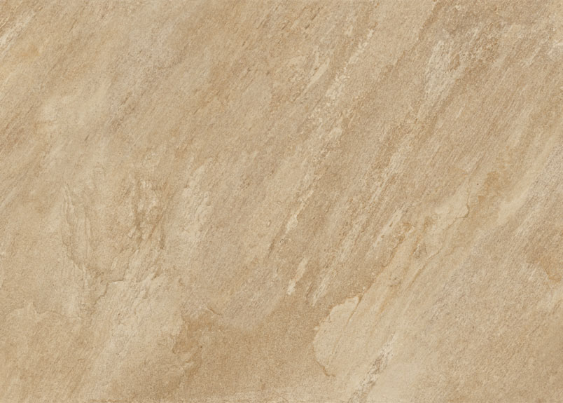 Keramik Terrassenpaltte pureto Rio Dorato in beiger Natursteinoptik mit Maserungen