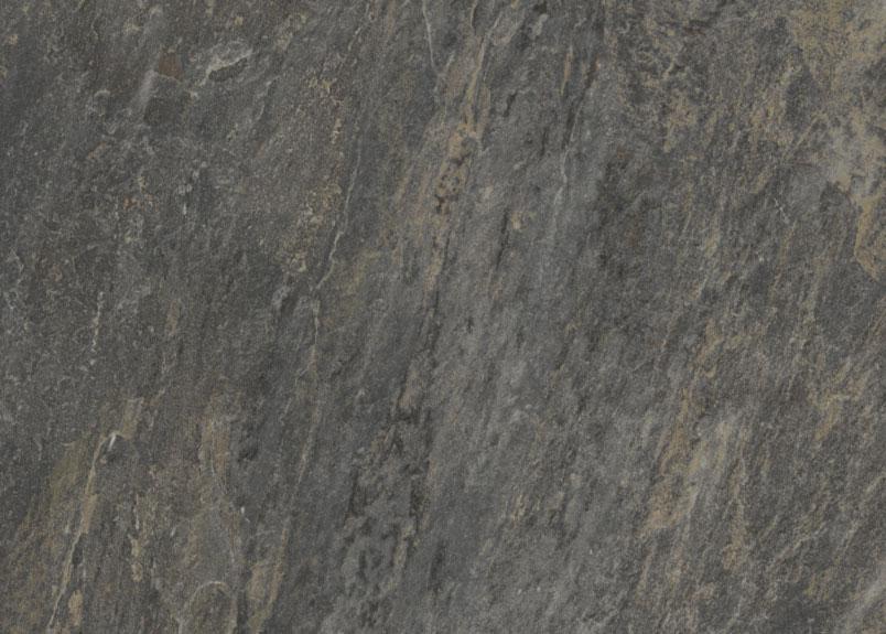 schwarzgraue Keramik Terrassenplatte mit beigen Maserungen in Schieferoptik pureto Schiefer multicolor