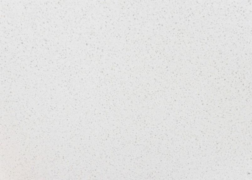 Arbeitsplatte Agglo Cristall mit gesprenkelter weißer Oberfläche