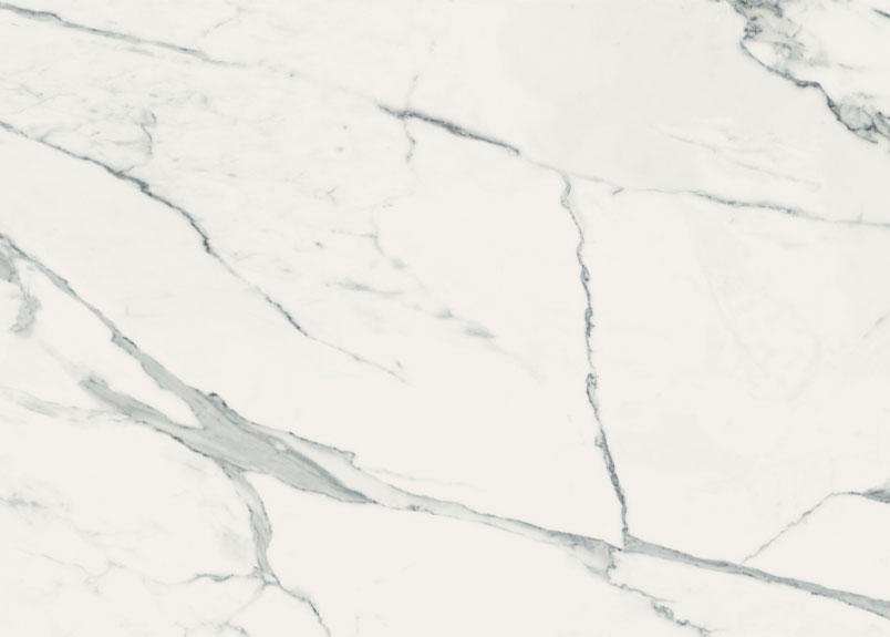 Keramikplatte Neolith Calacatta White in weißer Marmoroptik
