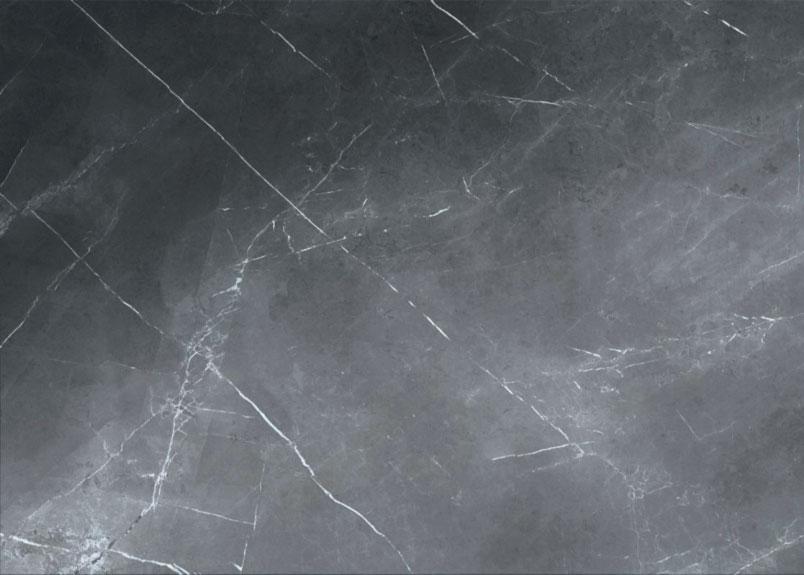 dunkelgraue Keramikplatte in Marmoroptik