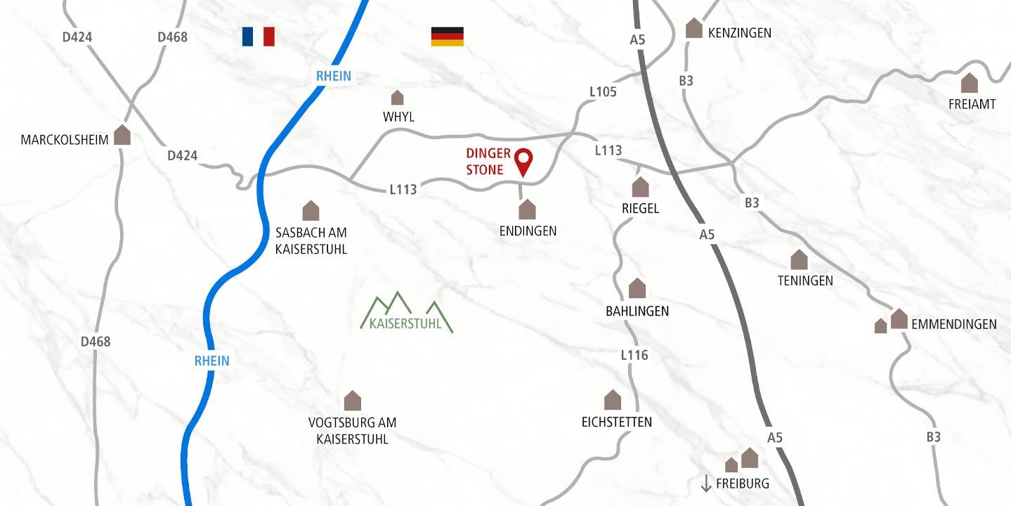 Anfahrtsskizze nach Endingen am Kaiserstuhl