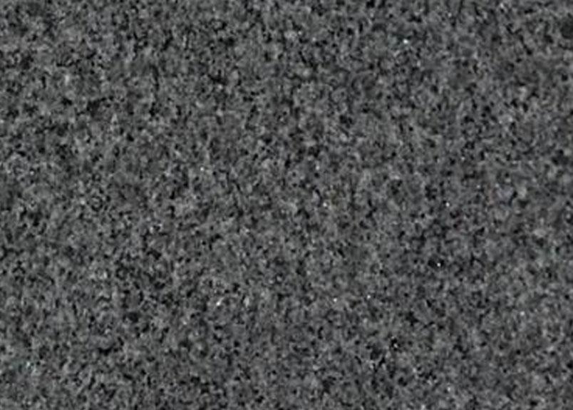 Detailaufnahme dunkelgraue Granitplatte Padang dunkel