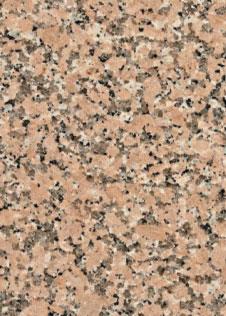 Natursteinplatte Granit Rosa Porrino mit körniger Optik in Schwarz, Weiß, Grau und Rosa