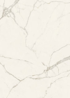 Keramikplatte pureto Marmo White in weißer Marmoroptik