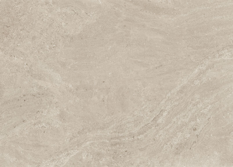 Keramikplatte pureto Nizza in beiger Kalksteinoptik